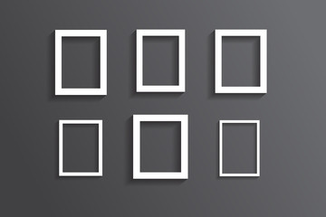 Set of white picture frame,EPS vector