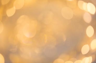 Fotobehang - blurred beige holidays lights