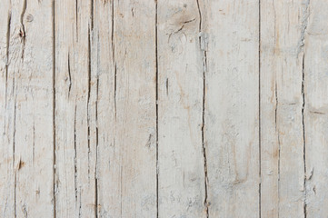 White wooden planks light damaged and dirty