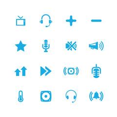 audio icons universal set
