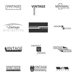 Wall Mural - Minimal modern logo design for brand. Badges and emblems vector set