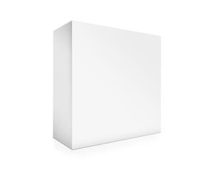 Illustration of paper box on white background