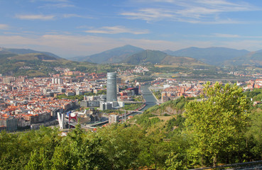 Spain, Bilbao, View of city from above