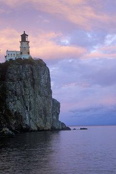 Split Rock Lighthouse in the  Split Rock Lighthouse State Park on Lake Superior, MN