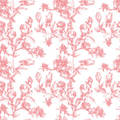 seamless pattern with a clover