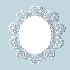 Lace doily, greeting card or wedding invitation
