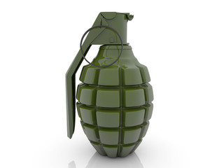 Hand grenade in green color