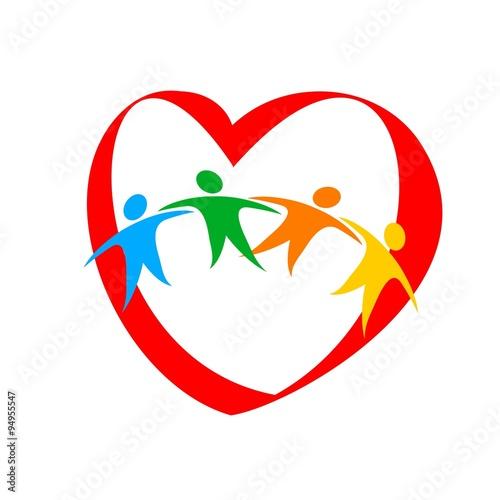 Heart Friendship Love Joy Logo