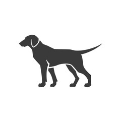 Dog Side View Isolated On White Background Vector object