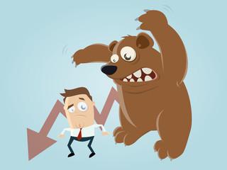börse kurs bär krise depression abschwung