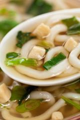 Miso Soup Bowl. Selective focus.