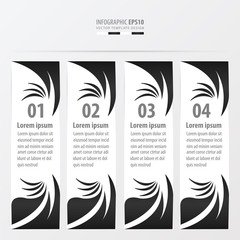art style banner   black and white color