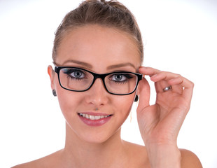 Glasses / pretty woman wearing glasses