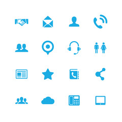 communication icons universal set