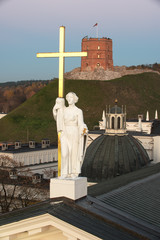 Wall Mural - Vilnius, Lithuania: Sculpture of Saint Helena