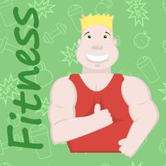 Sportsman illustration, fitness background