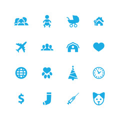 family icons universal set