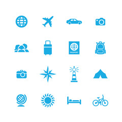 travel icons universal set