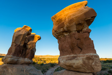 Hoodoos Devils Garden Escalante at Sunrise