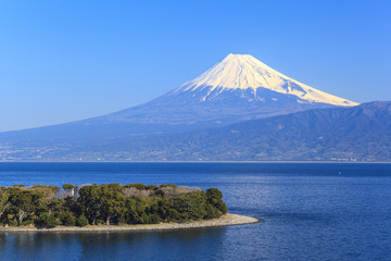 Cape Osezaki and Mt. Fuji seen from Nishiizu, Shizuoka, Japan Wall mural
