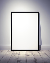 Empty Photo or Artwork Frame standing at the  floor