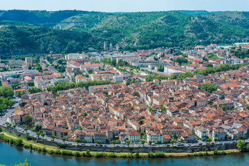 Cahors from Mont Saint Cyr in Lot, France.