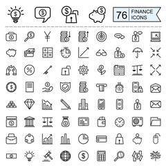 finance icons collection