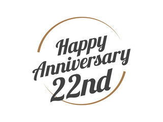 22 Happy Anniversary Logo