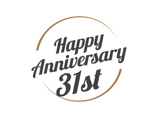 31 Happy Anniversary Logo