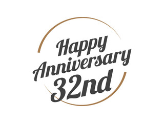 32 Happy Anniversary Logo