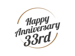 33 Happy Anniversary Logo