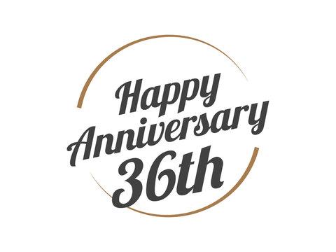 36 Happy Anniversary Logo