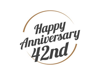 42 Happy Anniversary Logo