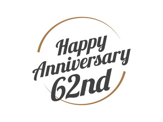 62 Happy Anniversary Logo