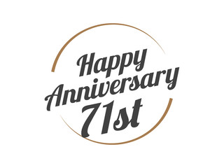 71 Happy Anniversary Logo