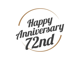 72 Happy Anniversary Logo