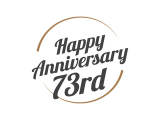 73 Happy Anniversary Logo