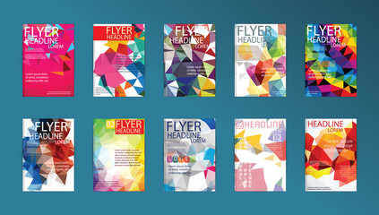 Set of Flyer, Brochure Design Templates Flyers, Posters and Plac