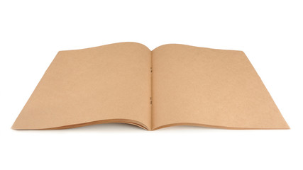 Brown Paper Sketch Pad Isolated on White Background