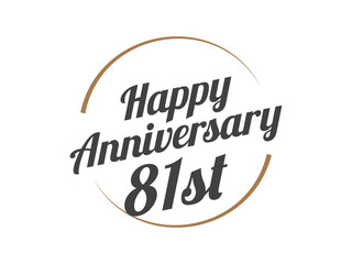 81 Happy Anniversary Logo