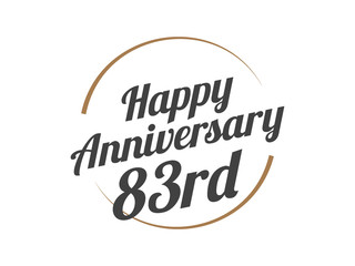 83 Happy Anniversary Logo