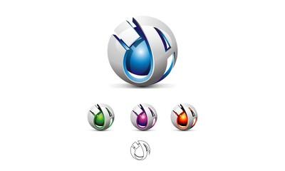 3D - IA Modern Logo