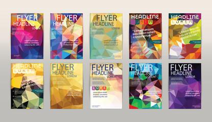 Set of Vector Brochure Flyer Design Layout Banner and Poster Des