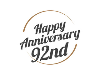 92 Happy Anniversary Logo