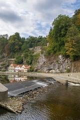 Vltava river, Cesky Krumlov, Czech republic