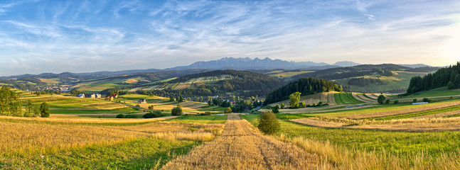 Panorama of Tatra mountains, Poland
