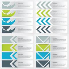 design banner template   green, blue, gray color