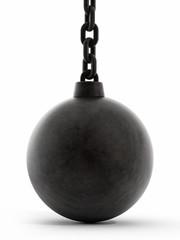 Black wrecking ball