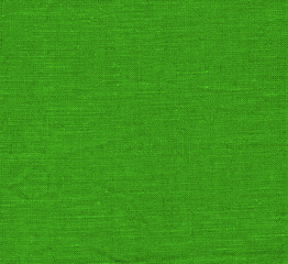 Vintage green fabric background. Green fabric texture as background