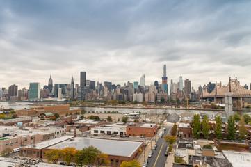 Beautiful skyline of Manhattan as seen from Queens
